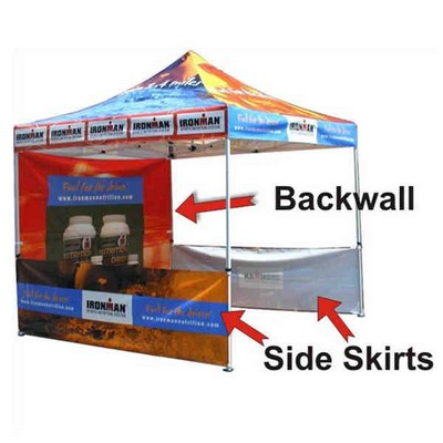 Back Wall for Display Pop Up Portable Outdoor Canopy Tent