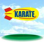 Custom PVC 17' Helium Display Blimp - Karate with Swirl Accents