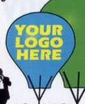 Custom PVC Hot Air Balloon Look Inflatable / Solid Colors (12')
