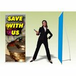 Custom Promo Banner with L-Stand (31.5