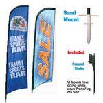 Custom Promotional Advertising Custom Vertical Promo Flag w/ Sand Mount (12')