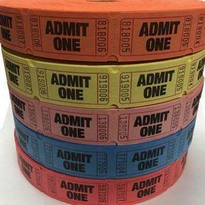 "1""X2"" Admit One Tickets on a Roll"