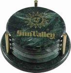 Custom Green Marble Awards & Desk Accessories (Coaster set)