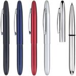 Custom Pocket Pen Series - mini pocket size ball point pen. Brass metal, cap, chrome trim, black pen.