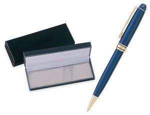 MB Series Ball Pen Gift Set in black velvet gift box - blue pen set