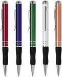 Custom DM Series Ball Point Pen, aluminum pen barrel, twist action, soft rubber grip. copper Rose Color Pen