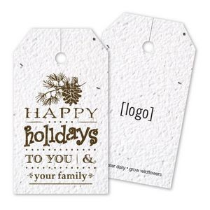 Vintage Holiday Seed Paper Bag Tag - F