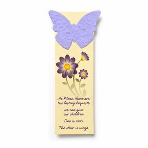 "Small Seed Paper Shape Bookmark (1.75 x 5.5"") - Butterfly Style 4 Shape"