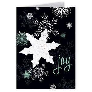 Seed Paper Shape Holiday Greeting Card