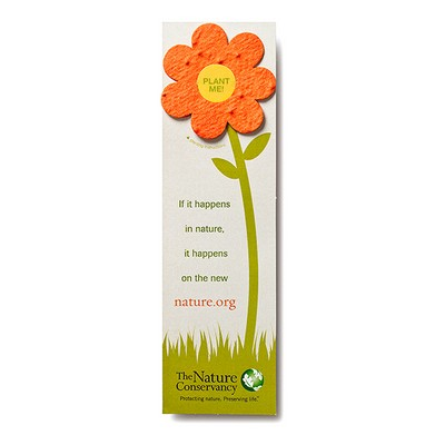 Seed Paper Shape Bookmark - Flower Style 2 Shape