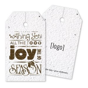 Vintage Holiday Seed Paper Bag Tag - E