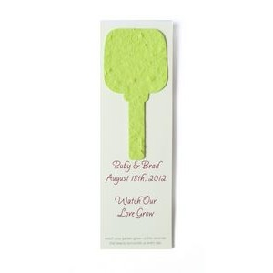 "Small Seed Paper Shape Bookmark (1.75 x 5.5"") - Key Style Shape"