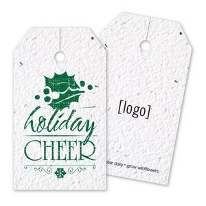 Vintage Holiday Seed Paper Bag Tag - G