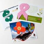 Custom Seed Paper Shape Postcard with Seeded Paper Shape