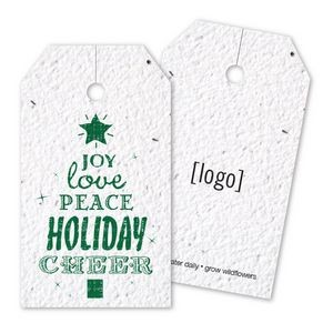 Vintage Holiday Seed Paper Bag Tag - D