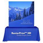 Custom RasterPrint Portable Frame & Graphic Only - 8' Table Top