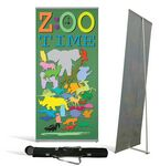 Custom Large Econo-L Banner Stand w/ Banner & Tote Bag