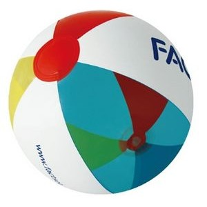 Inflatable Translucent Yellow/Red/Blue/White Beach Ball (16