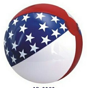 "12"" Inflatable Patriotic Star Beach Ball"