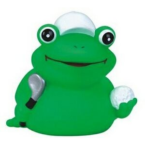 Rubber Tee-Time Golfer Frog Toy