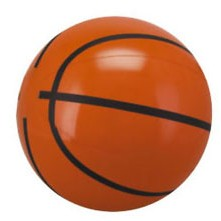 "6"" Inflatable Basketball Beach Ball"