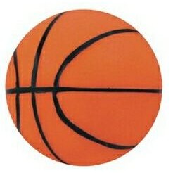 "3 1/4"" Inflated Rubber Bouncing Basketball"