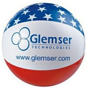 "16"" Inflatable Patriotic Star Beach Ball"