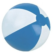 "6"" Alternating Light Blue and White Inflatable Beach Ball"