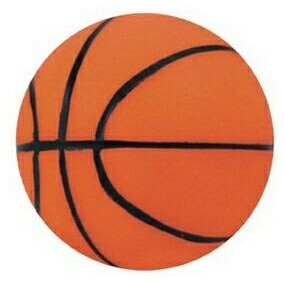 "3 3/4"" Inflated Rubber Bouncing Basketball"