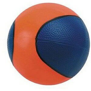 "5"" inflated Rubber Bouncing Basketball (Blue/Orange)"