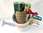 Custom Watering Can Seed Kit with Amber Ribbon