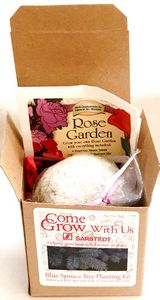 Rose Scented Bath Bomb and Rose Seeds in a Box