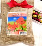 Custom Love Garden in Burlap Bag