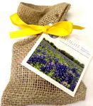 Custom Flower Seeds in Burlap Bag Garden Kit