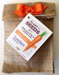 Custom Carrot Seeds in Burlap Bag
