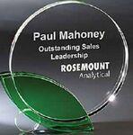 Custom Leaf Optic Crystal Award