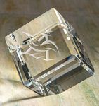 Custom Beveled Cornerstone Cube Paperweight