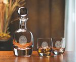 Custom Barrel Decanter W/ 2 Glasses (3 Piece Set)