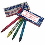 Custom USA Pack 4-Ct Crayons
