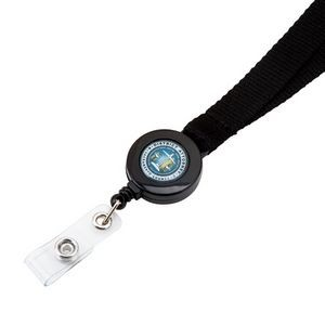 Two-in One Rope Lanyard w/Retractable Badge Reel