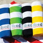 Custom Microfiber Cabana Stripe Beach Towel (Embroidered)