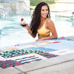 Custom Traveler's Microfiber Terry Beach Towel (Edge to Edge Printed)