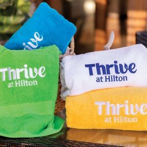 King Size Terry Beach Towel (Color Embroidered)