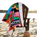 Custom King Size Subli-Plush Velour Beach Towel
