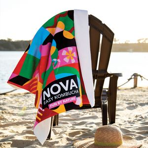 King Size Subli-Plush Velour Beach Towel