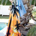 Custom Stock Palms Fiber Reactive Beach Towel (Imprinted)