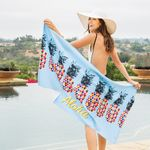 Custom Microfiber Velour Beach Towel (Edge to Edge Printed)