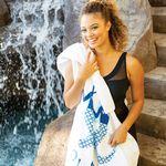 Custom Billboard Size Super Heavyweight Velour Beach Towel (Embroidered)