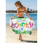 Custom Subli-Cotton Terry Beach Towel (Edge to Edge Printed)