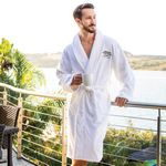 Custom Zero Twist Ultrasoft Cotton Shawl Collar Robe (Embroidered)